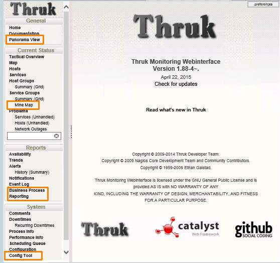 Thruk - Web interface for Nagios compatible systems